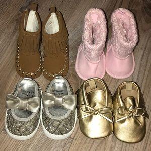 0-3 baby girls' shoe bundle